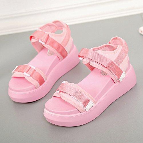 XY&GKSandales femmes Sandales Chaussures d'été, le Vent doux,Chaussures confort offrent le meilleur service 39Pink