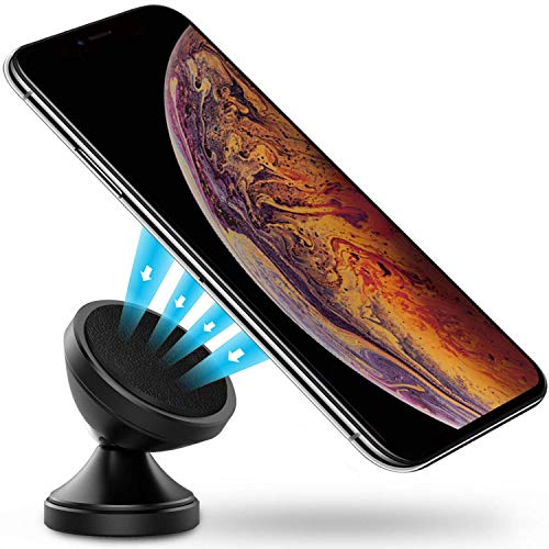 Power Theory Handyhalter fürs Auto - Magnet Handyhalterung mit 3M Sticker für iPhone XS Max X 8 7 Plus 6s SE Samsung S10 S9 S8 S7 S6 KFZ Halterung Smartphone Handy Halter Universal Autohalterung