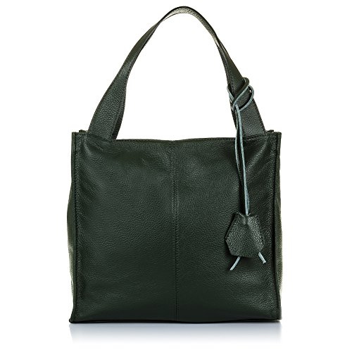 Firenze ARTEGIANI.Bolso Shopping Bag de Mujer Piel auténtica.Bolso Cuero Genuino Piel Dollaro Tacto...