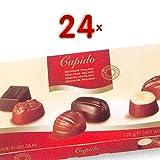 Cupido Pralines Belges 24 x 125g Packung (verschiedene, belgische Pralinen mit Schokolade umhüllt)