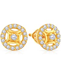 8356d4ef8 Malabar Gold and Diamonds 22k Yellow Gold and Cubic Zirconia Stud Earrings