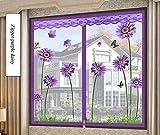 YOLE Anti-Moskito-Vorhang-Klettverschluss Magnet Fliegengitter Fenster Vorhang Insektenschutz Reißverschluss des Mittelblocks offen Der Vorhang ist Ideal für die Kinderzimmer,A,150 * 160cm/59 * 63in