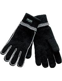 Handschuh Comfort Thinsulate Fingerhandschuhe gefütterte Handschuhe Winterhandschuhe schwarz-grau L/XL