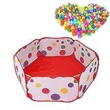 Jipai(TM) 1 x Piscine à Balles Portable pour Bébé avec 50 Balles Enfant Tente de...