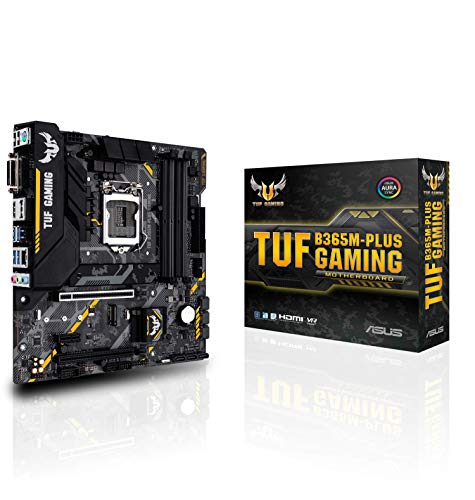 ASUS TUF B365M-PLUS Gaming – LGA1151 9th Generation Motherboard (LGA1151, Intel B365 chipset, 6 x USB 3.1 Gen1, AMD 2-Way CrossFireX)