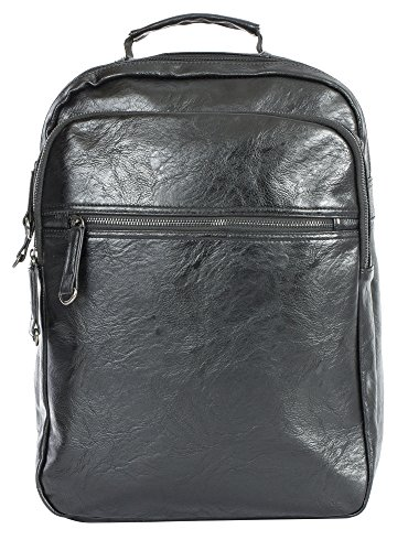 Big Handbag Shop, Borsa a zainetto donna Backpack Style 4 - Black