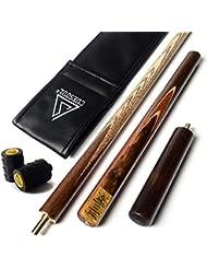 "CUESOUL 57 ""Handcraft 3/4 Jointed Snooker Queue mit Verl?ngerung / Gelenk Protector verpackt in Kunstleder Cue Bag"