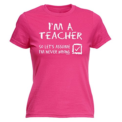123t Slogans - T-shirt - Manches Courtes - Femme Rose - Rose