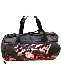 Shopaholic Polyester Red Stripe Travel Duffle Gym Bag