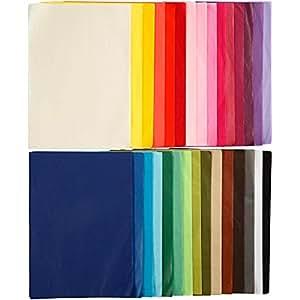 Papier de soie - Assortiment, A4 21x30 cm, 300 flles assort.