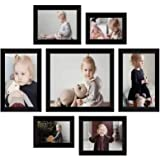 AG Crafts™ Collage Solimo Photo Frames (Set of 7)&(Wall Hanging) (Black)