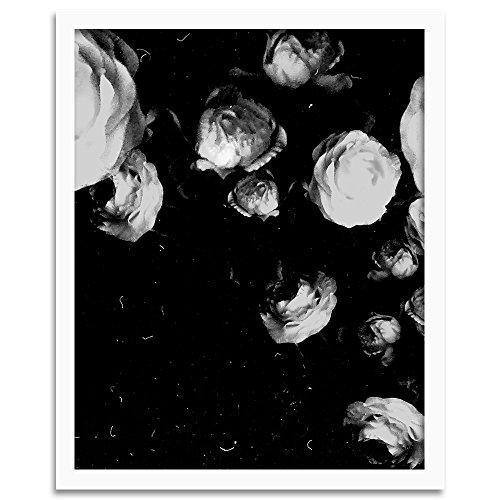 Feeby. Tableau encadré, Tableau Déco, Tableau Mural, Décoration Murale Image Imprimée, 1 Partie - 40x60 cm, Dmitry Belov - Fleurs Nature Noir Blanc