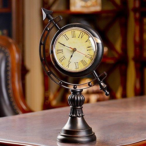 Europäischen Stil Globus Uhr Uhr Uhr Zimmer Taiwan Harz Retro Mode Kreative Hauptlieferungsdekor Dekoration 20 * 12 * 41 cm