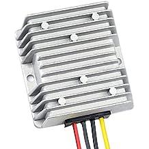 Yeeco 300W Alta Conversión Effiency Car Club Golf Coche de DC a DC Tensión Convertidor Reductor 36V 48V a 12V 25A Reducción Tensión Buck Convertidor Energía de la Batería Alimentación del Transformador Voltios Regulador