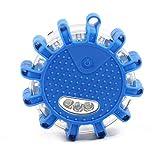 LED Batterie Warnleuchte Warnblinkleuchte mit Magnet und 12LEDs für Auto Notfall Pannenhilfe (blau)
