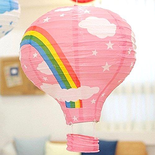 GEZICHTA Linternas de Papel de Globo de arcoíris para lámpara de Techo, lámpara Divertida para Dormitorio, decoración de Bodas, Fiestas, 1