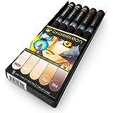 Camaleón Blendable tonos de color–permanente con base de Alcohol marcador bolígrafos–Set de 5- Skin Tones