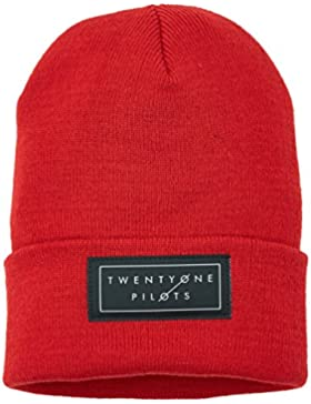 Merch Código Joven Twenty pilots Logo Beanie, red, One size