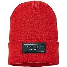 MERCHCODE Gorro juvenil con logo Twenty One Pilots, rojo, talla única