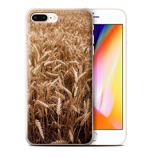 Stuff4 Hülle / Case für Apple iPhone 8 Plus / Grünes Blatt Muster / Britisch Landschaft Kollektion Weizenfeld