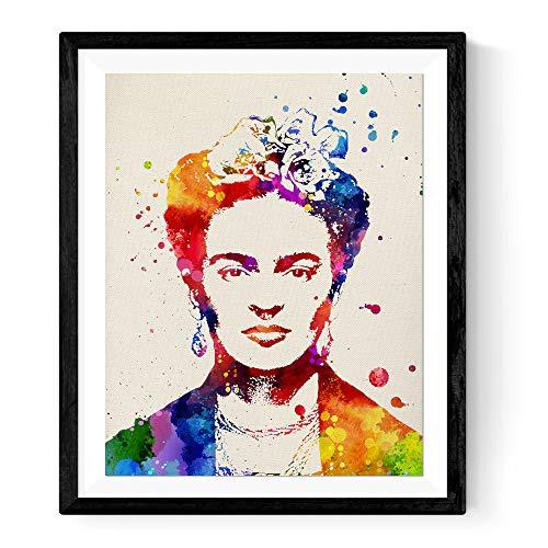 Nacnic Lámina enmarcar Frida Kahlo 2 Estilo Acuarela