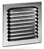 Wetterschutzgitter Aluminium eckig 100 x 100 mm braun Lüftungsgitter
