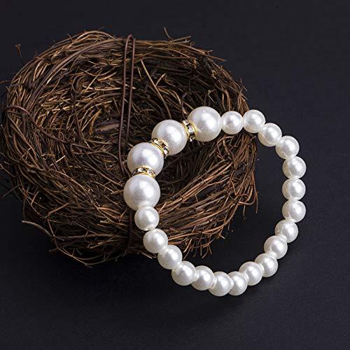 ZENGWEIW Modeschmuck Vintage Kristall Perle Armband Exquisite Frauen Armband Schmuck