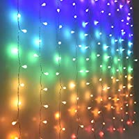 Fairy Lights Led Curtain Lights String Lights Outdoor Garden Gazebo Indoor Night Light for Kids Girls Bedroom Room Decor Wedding Birthday Unicorn Party Decoration Nursery Christmas Decorations Globe
