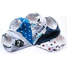Lovjoy Baberos del bebé – Paquete de 5 Diseños para niño (Pequeña estrella)