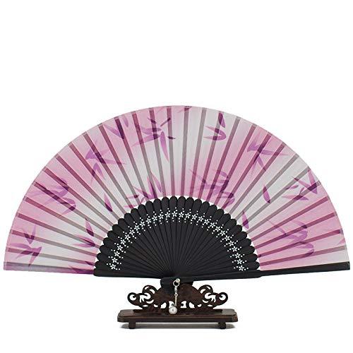 Luxdeoo Handfächer Faltfächer Alter Ventilator, Der Bequemen Ventilator Der Chinesischen Art Faltet (Passt Kirche Damen)