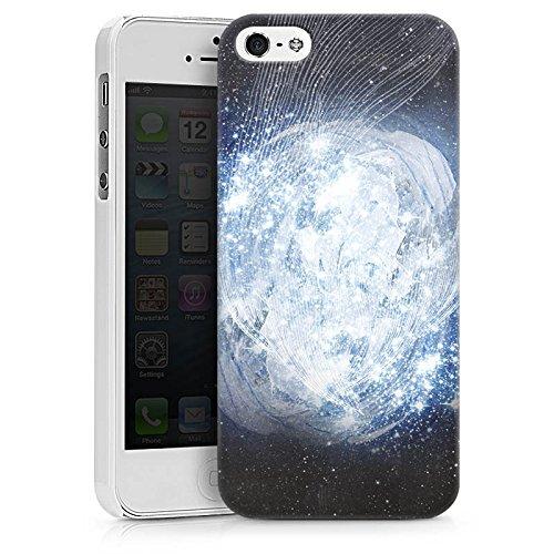 Apple iPhone X Silikon Hülle Case Schutzhülle Universum Galaxie Dimension Hard Case weiß