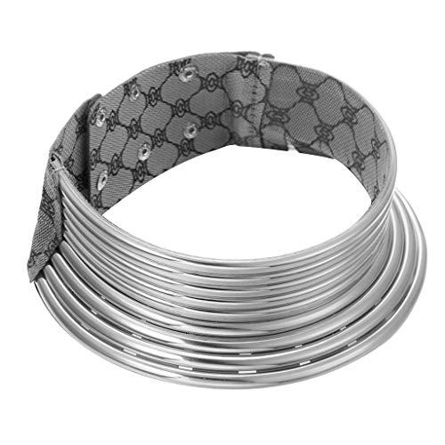TTLOVE Halskette Afrikanischer Nationaler Flamboyant-Justierbarer PersöNlichkeit-Kreativer Art-GroßEr Kragen -