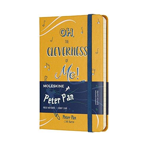 Moleskine Notizbuch Peter Pan, Pocket, A6, Liniert, Hard Cover, Gelb Orange