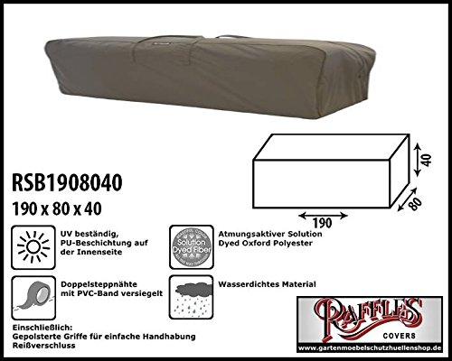 Raffles Covers RSB1908040 Kissentasche für Loungemöbelauflagen Aufbewahrungstasche/Cover für...