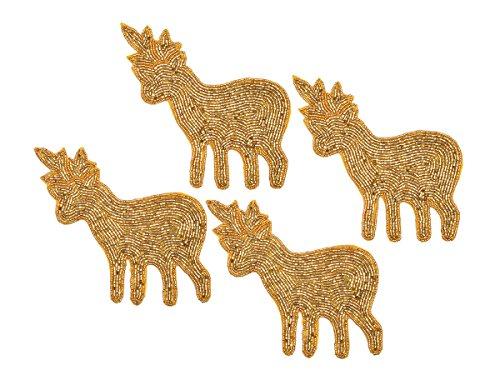 Store Indya, Set da 4 sottobicchieri renna a forma di