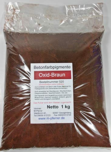 Pigmentpulver Braun, Oxidfarbe 1kg Betonfarbe