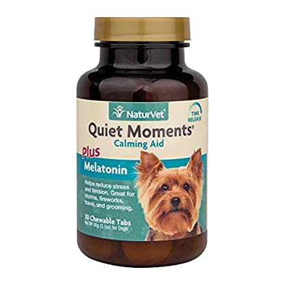 NaturVet Quiet Moments Calming Aid Chewable Tablets, 30 Pills 1