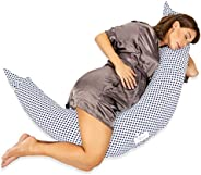 Almohada de Embarazo para recién Nacidos Que Duermen y amamantan con Cremallera Oculta en Escamas de Fibra par