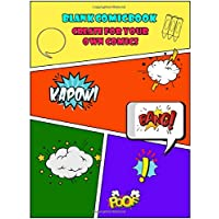 Blank Comic Book Create For Your Own Comics: Templates Of Fun Draw Your Own Comics - Express Your Kids or Teens Talent and Creativity with This Lots ... Large Print 8.5 x 11 Inch 105 Pages (Vol.11)