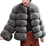 ♫♫ Amlaiworld Party Mode flauschig Jacken Freizeit weich warm lässig Langarmshirts Damen Herbst Winter warm Mäntel Outdoor Coole Dick Pullover