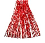 HAAC espumillón lametten Longitud 120cm Color Rojo Para Navidad Navidad