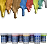 individuall Premium Metallic Farben | Farbset mit 8 Farben Metall Acrylfarben Malfarben Effektfarben