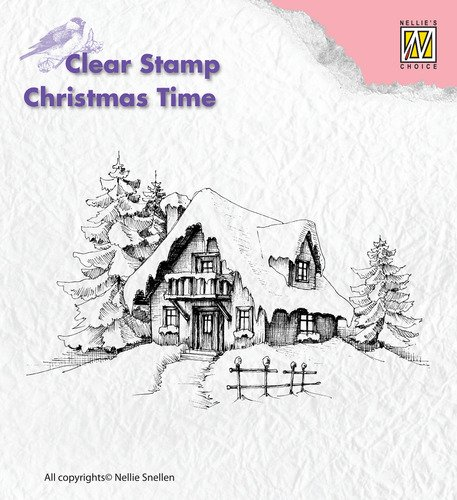 Clear Stamps - Christmas time - Snowy house