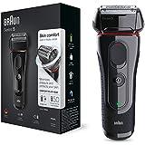Braun Series 5 5030s - Afeitadora eléctrica de lámina para hombre, Negro/Rojo
