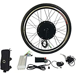 fghfhfgjdfj Brushless Hub Motor Rear Wheel Electric Bicycle Motor E-Bike Conversion Kit 36V 250W 26 Inch Electric Bike Kit