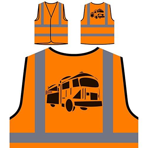 Feuerwehrmann-Neuheit-neue lustige Kunst-Fläche Personalisierte High Visibility Orange Sicherheitsjacke Weste c791vo (Kunst Feuerwehrmann)