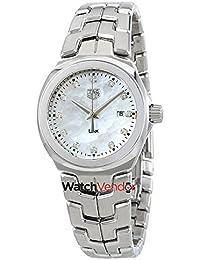 Tag Heuer Link Mutter von Pearl Diamant Zifferblatt Damen Watch wbc1312. ba0600
