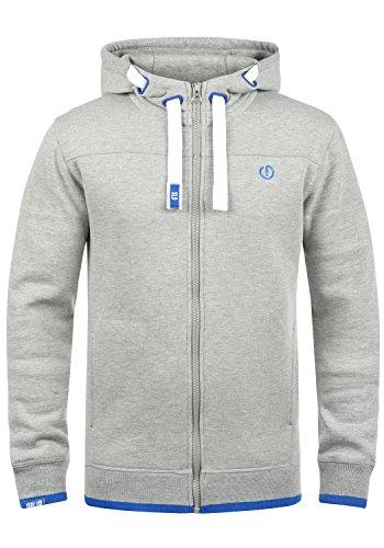 Solid Hoodie Sweatshirt (!Solid BenjaminZip Herren Sweatjacke Kapuzenjacke Hoodie mit Kapuze Reißverschluss und Fleece-Innenseite, Größe:S, Farbe:Light Grey Melange (8242))