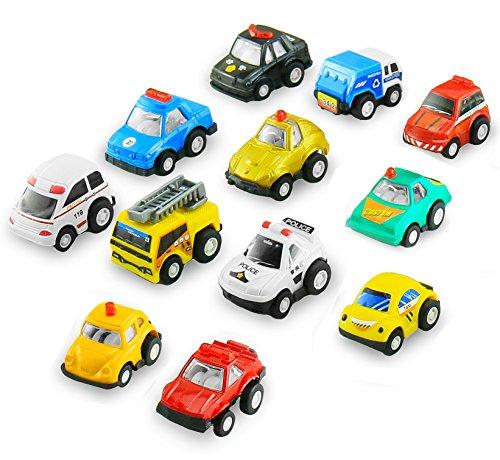 Preisvergleich Produktbild BBLIKE Spielzeug Auto Mini Fahrzeuge Baufahrzeuge Kunststoff Robusten Spielzeugauto für Kinder ab 3 Jahren geeignet