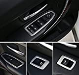 Stainless Steel Window Lift Button Decoration Sequins-fit BMW 3-SERIES F30 F35 316i 320 320Li